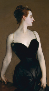 Madame X (Mme Gautreau), John Singer Sargent, The Metropolitan Museum of Art; Arthur H. Hearn Fund, 1916 (detail).