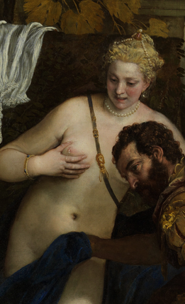 Mars and Venus United by Love, Paolo Veronese, The Metropolitan Museum of Art; John Stewart Kennedy Fund, 1910 (detail).