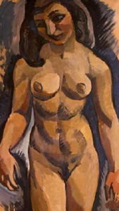 Nude, Roger de La Fresnaye, National Gallery of Art, Washington; Chester Dale Collection (detail).